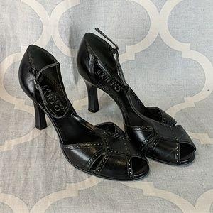 Franco Sarto Brazilian leather heels-black Sz. 7.5